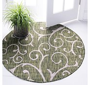 Link to 4' x 4' Outdoor Botanical Round Rug