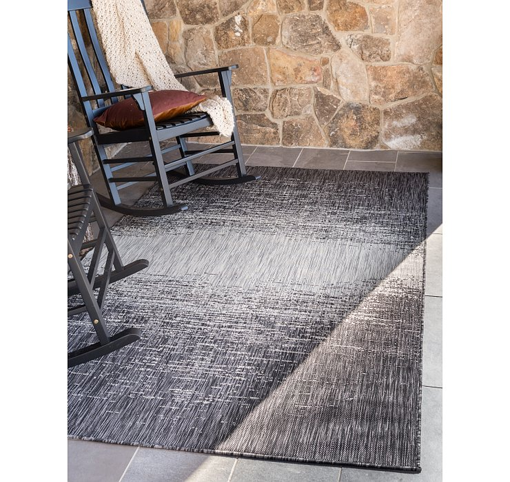 Charcoal Gray Outdoor Modern Rug