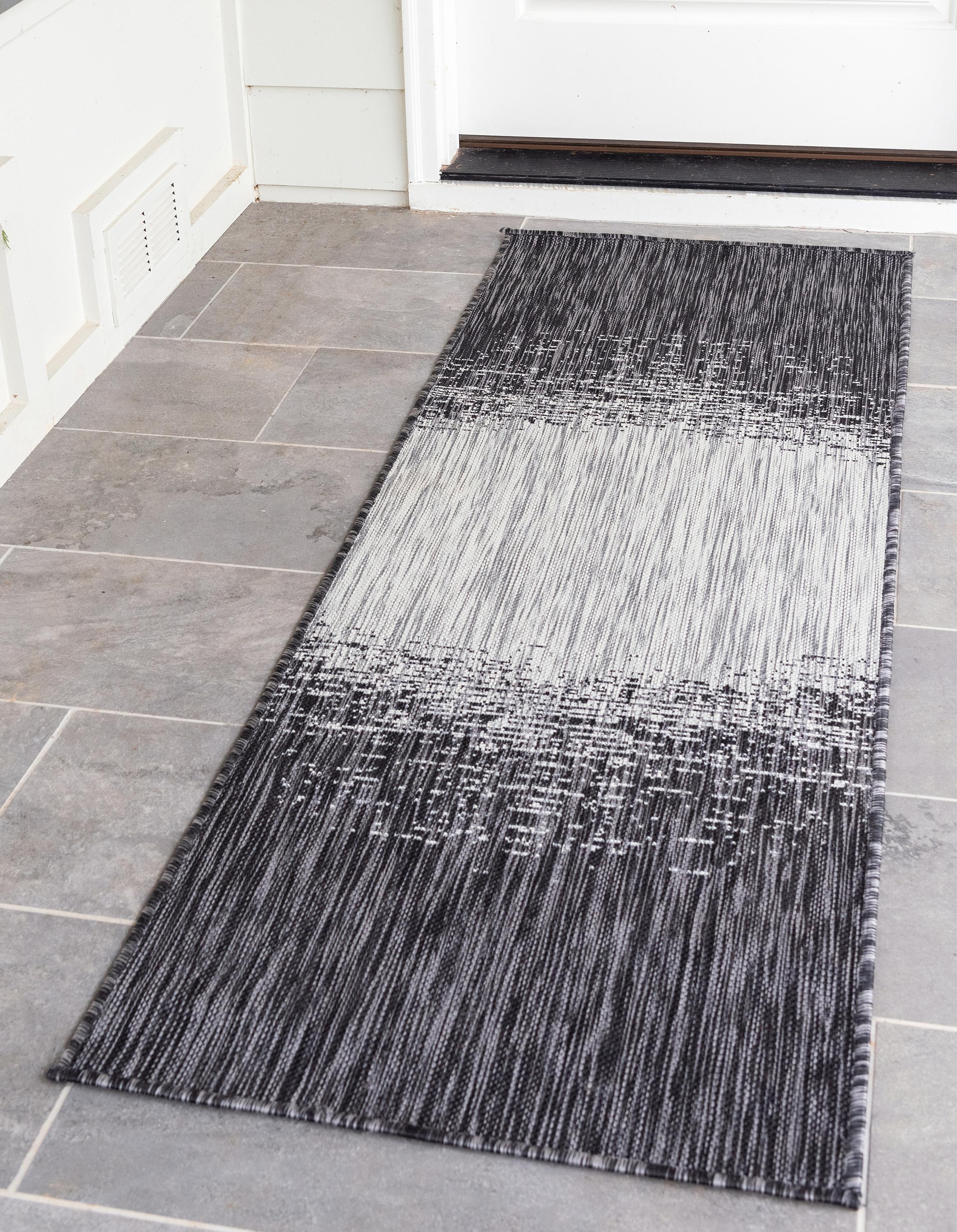 Charcoal Gray 2 X 6 Outdoor Modern Runner Rug Rugs Com