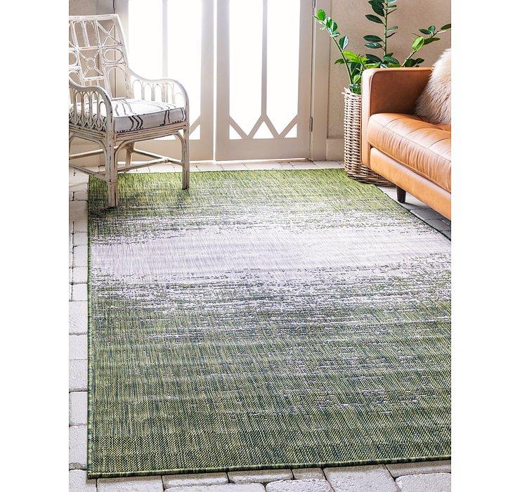 Green Outdoor Modern Rug