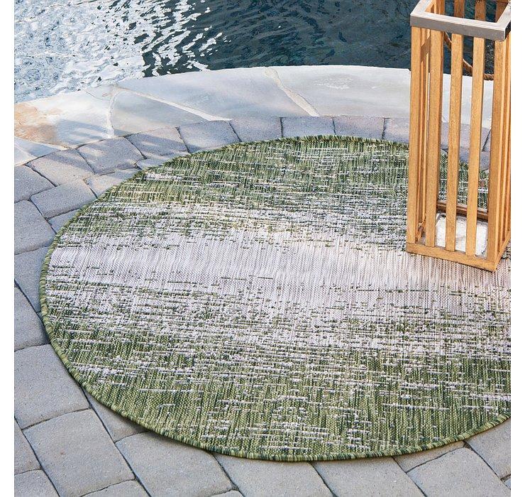 4' x 4' Outdoor Modern Round Rug