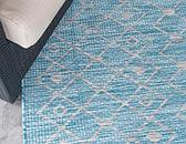 122cm x 122cm Outdoor Trellis Round Rug thumbnail