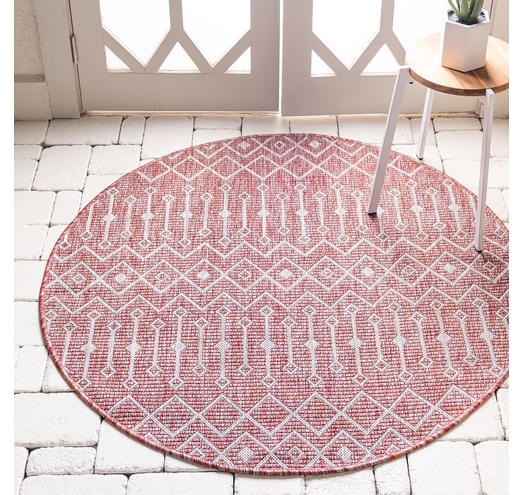 4' x 4' Outdoor Lattice Round Rug