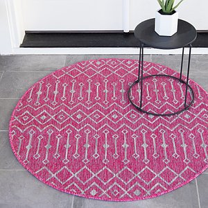 Link to 4' x 4' Outdoor Trellis Round Rug item page