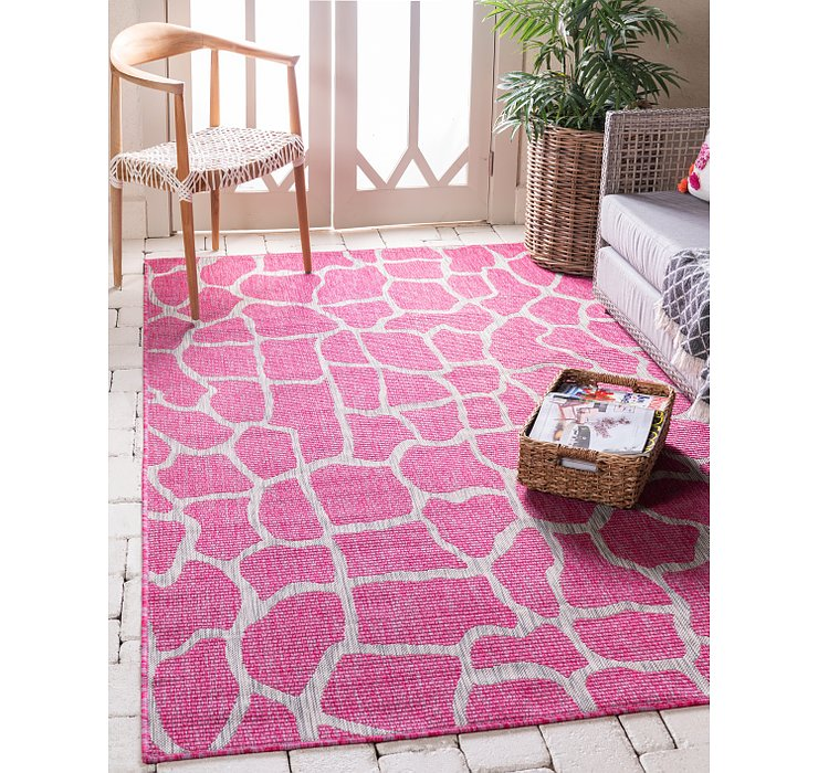 Magenta Outdoor Safari Rug