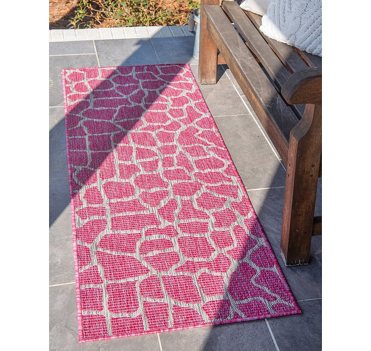 Magenta Outdoor Safari Runner Rug
