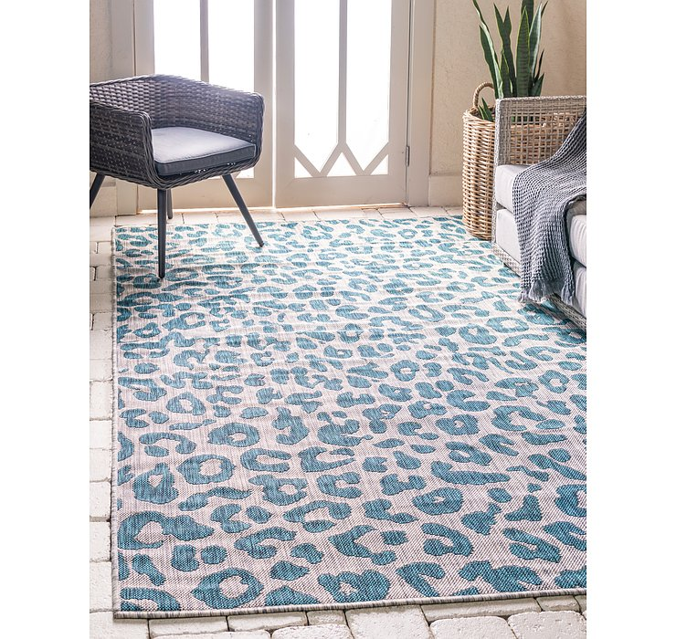 Teal Outdoor Safari Rug