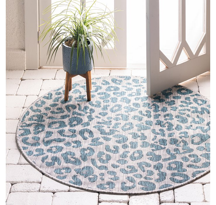 4' x 4' Outdoor Safari Round Rug