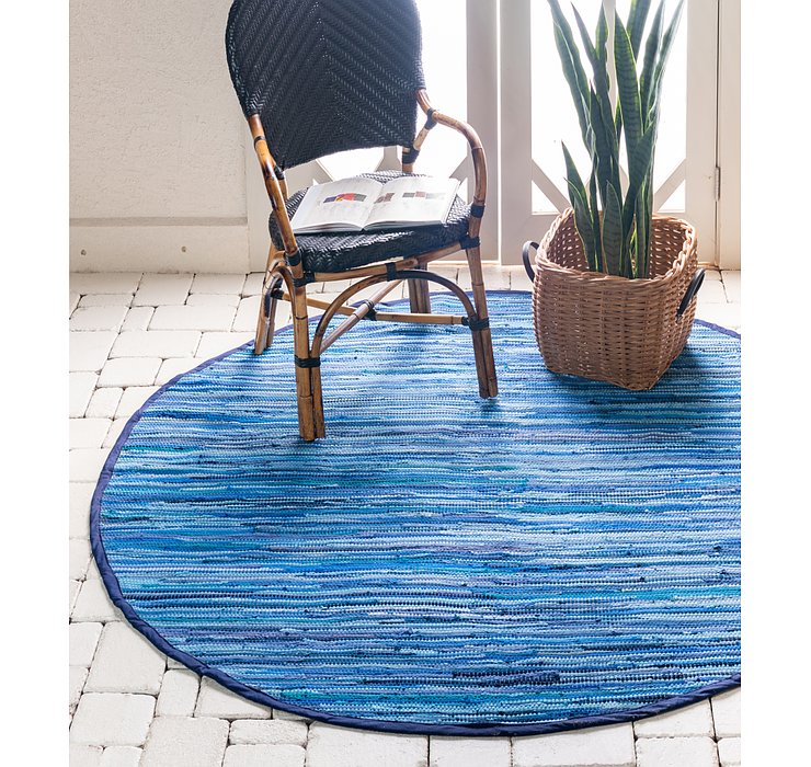 245cm x 245cm Chindi Cotton Round Rug