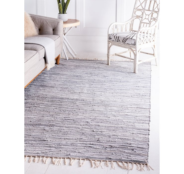 Gray Chindi Cotton Rug
