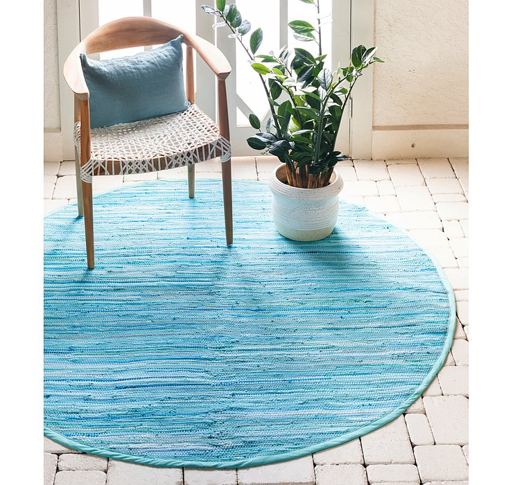 3' 3 x 3' 3 Chindi Cotton Round Rug