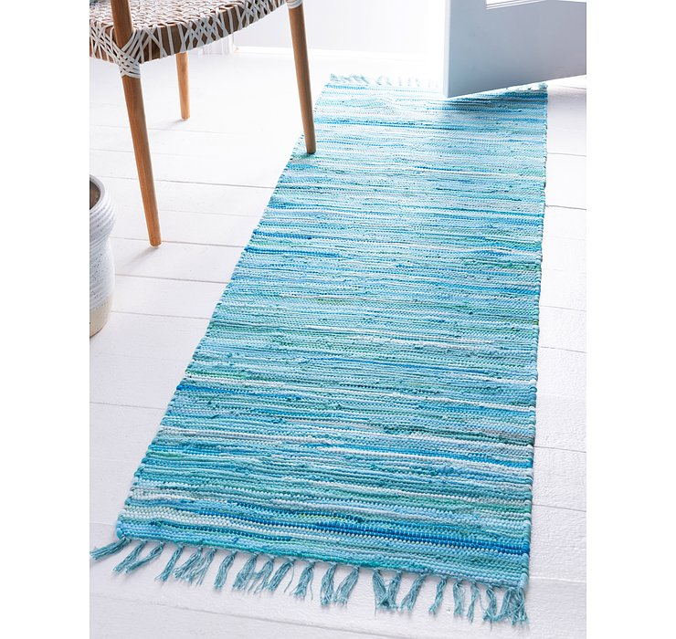 2' 7 x 6' 7 Chindi Cotton Runner Rug