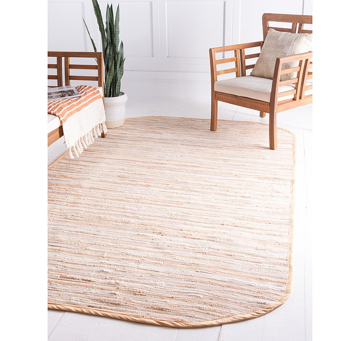 100cm x 152cm Chindi Cotton Oval Rug