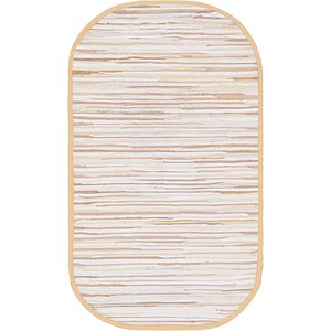 Link to 100cm x 152cm Chindi Cotton Oval Rug item page