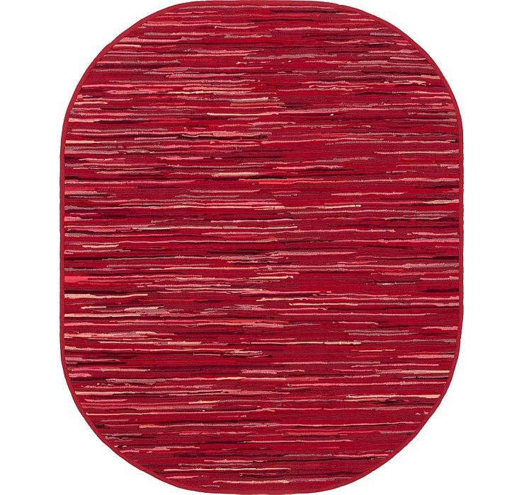 8' x 10' Chindi Cotton Oval Rug