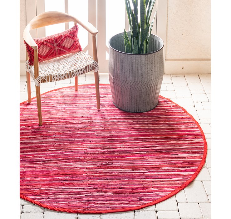183cm x 183cm Chindi Cotton Round Rug