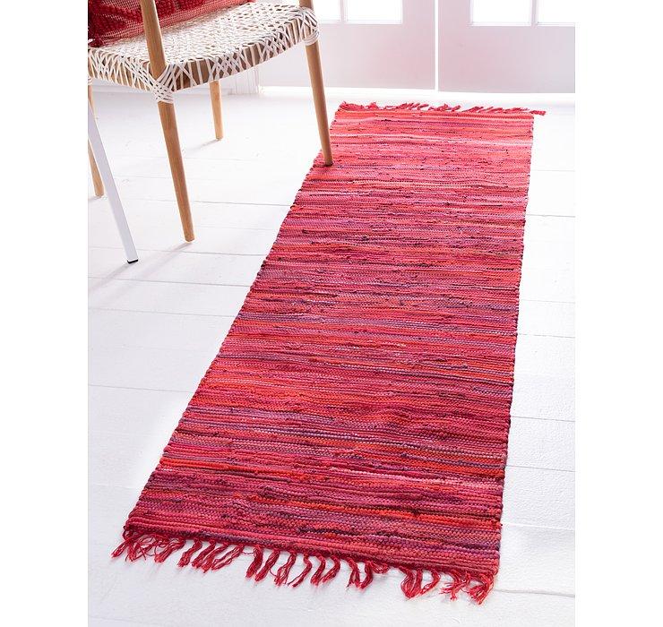 Red Chindi Cotton Runner Rug
