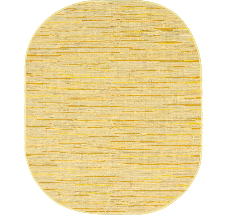 8' x 10' Chindi Cotton Oval Rug