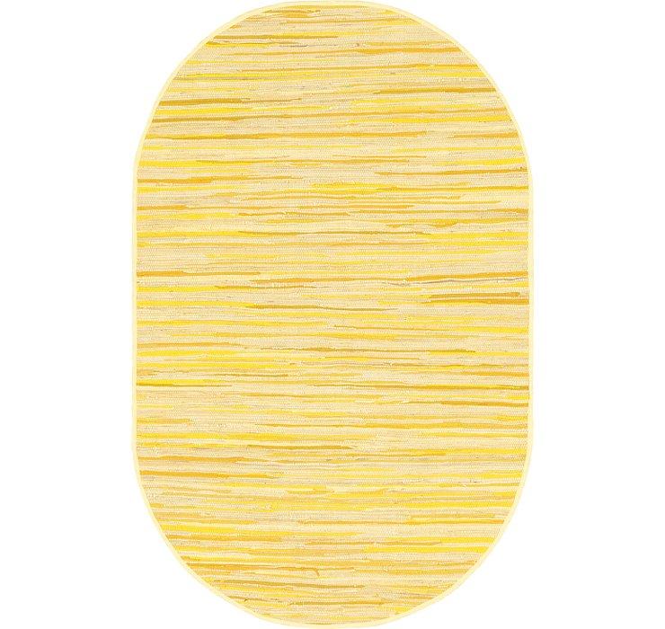 152cm x 245cm Chindi Cotton Oval Rug