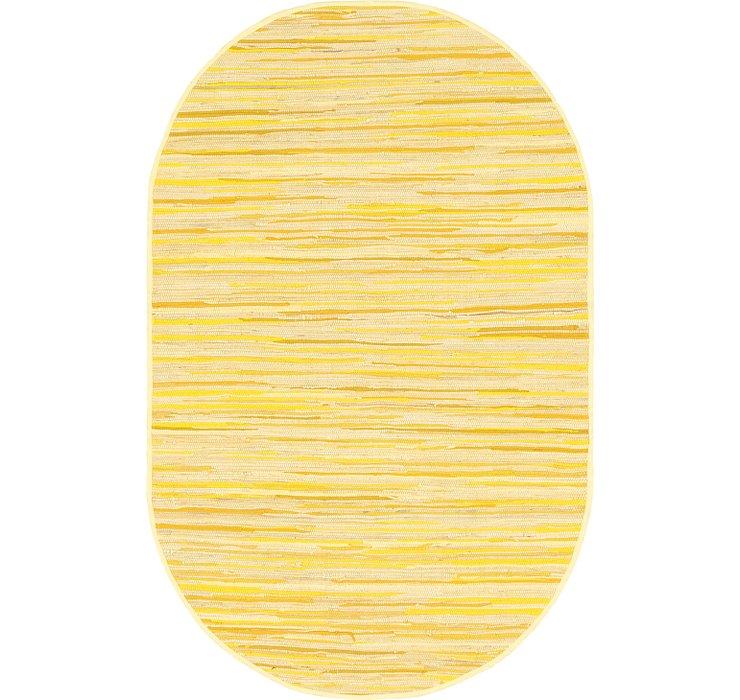 5' x 8' Chindi Cotton Oval Rug