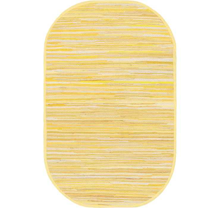 100cm x 152cm Chindi Cotton Oval Rug