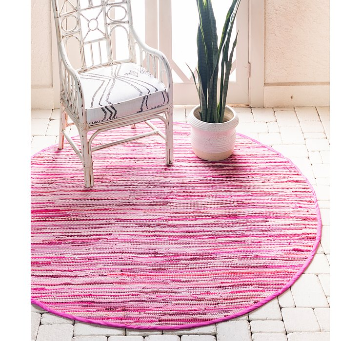 6' x 6' Chindi Cotton Round Rug