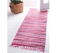 Link to 2' 7 x 9' 10 Chindi Cotton Runner Rug