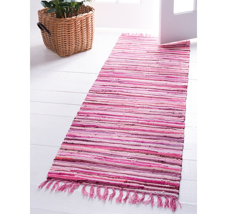 2' 7 x 9' 10 Chindi Cotton Runner Rug