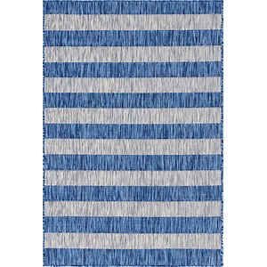 Link to 4' x 6' Outdoor Striped Rug item page