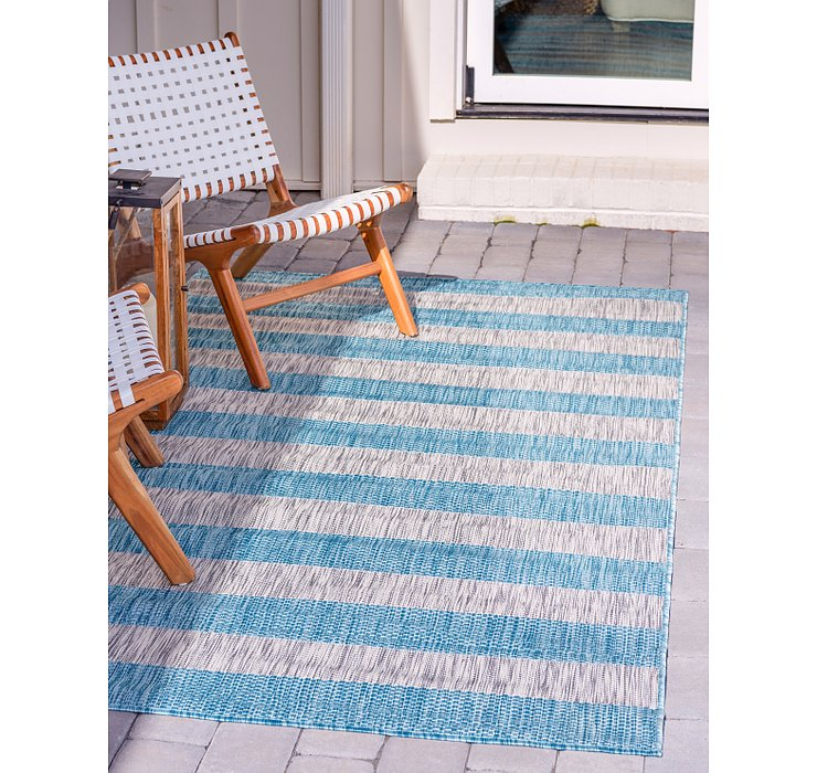 245cm x 345cm Outdoor Striped Rug