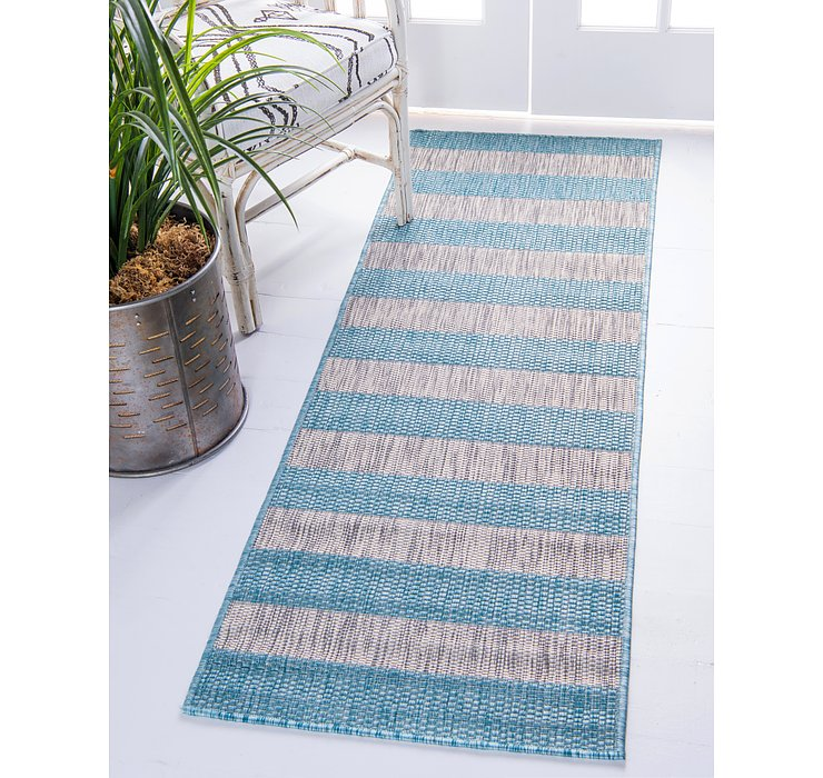 2' x 6' Outdoor Striped Runner ...