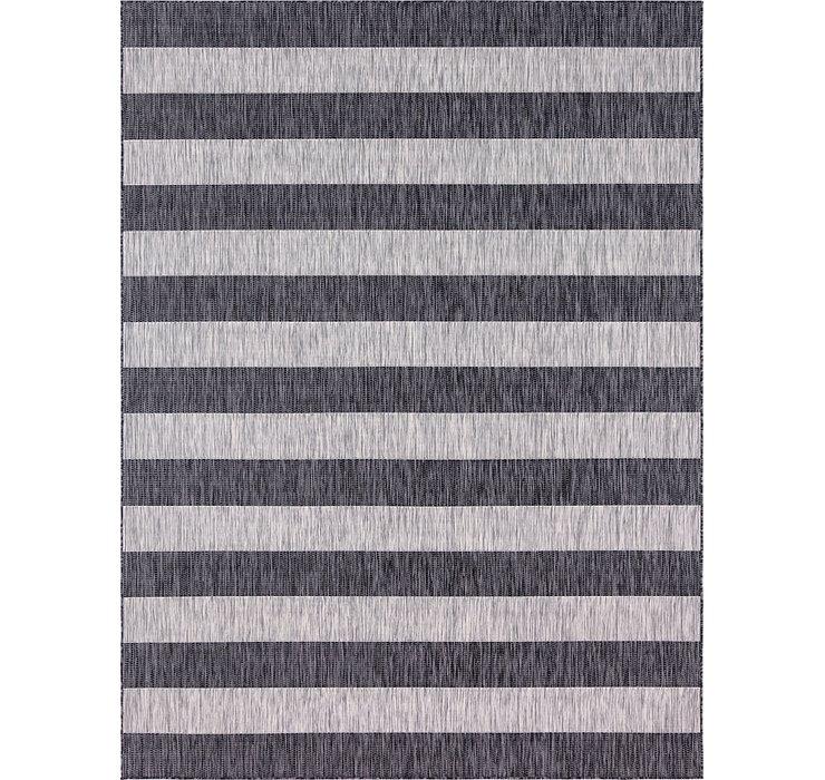 Unique Loom 9' x 12' Outdoor Striped Rug