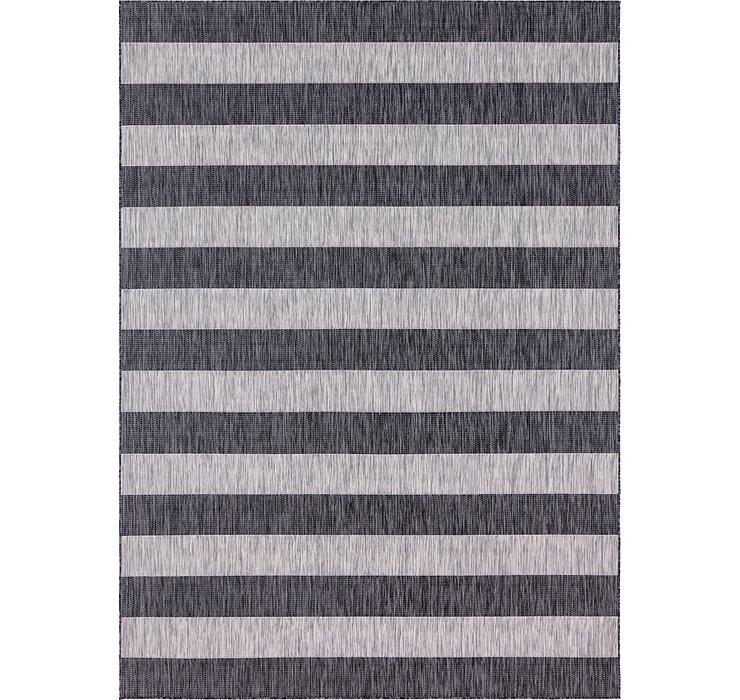 Unique Loom 8' x 11' 4 Outdoor Striped Rug