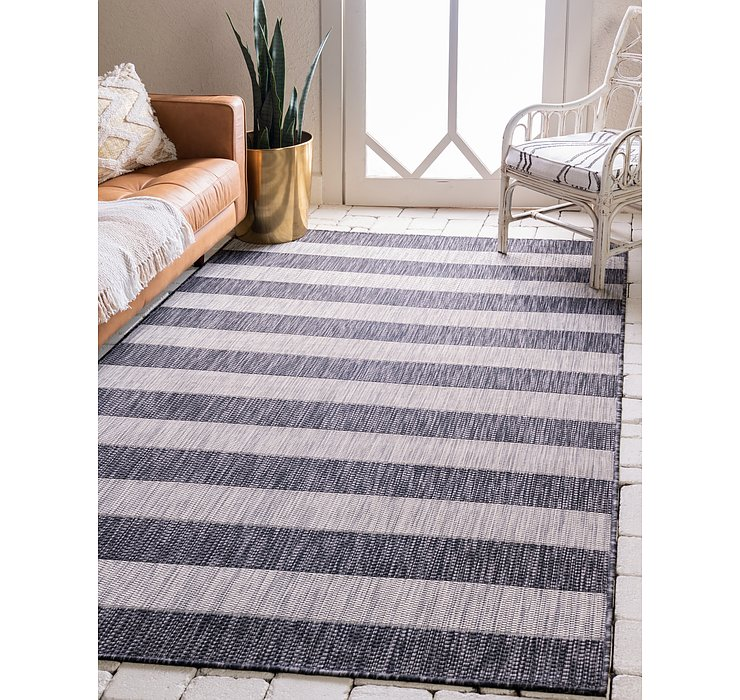 213cm x 305cm Outdoor Striped Rug