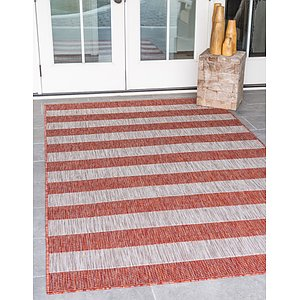 Link to 5' x 8' Outdoor Striped Rug item page