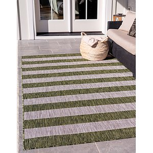 Link to 183cm x 275cm Outdoor Striped Rug item page