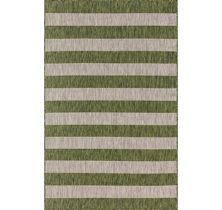 Unique Loom 5' x 8' Outdoor Striped Rug