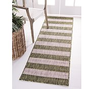 Link to 60cm x 183cm Outdoor Striped Runner Rug