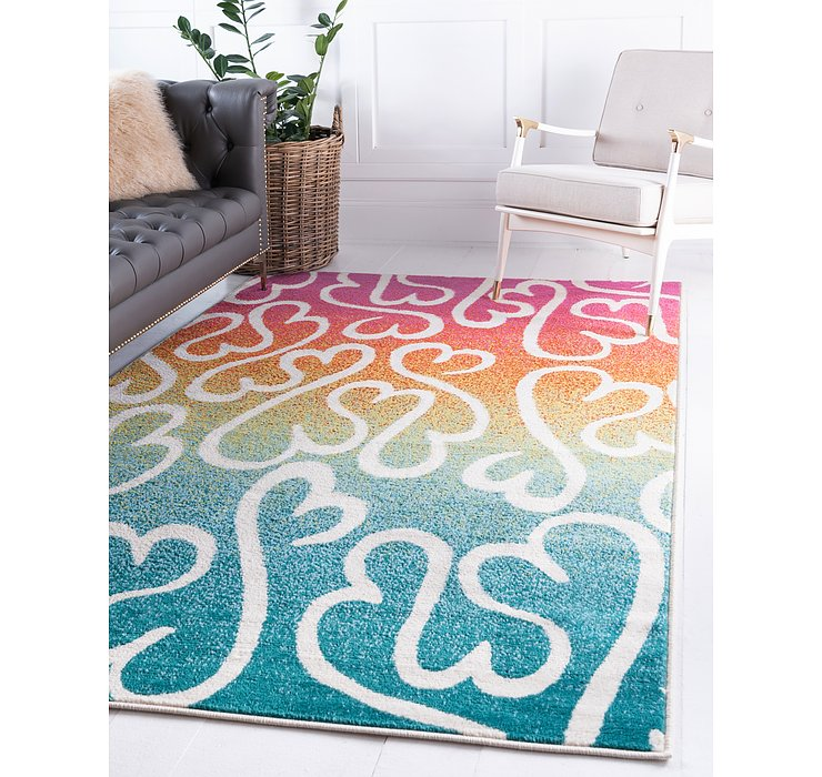 Jane Seymour 5' x 8' Open Hearts Rug