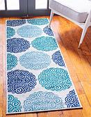 Jane Seymour 2' x 6' Open Hearts Runner Rug thumbnail image 1