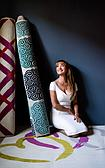 Jane Seymour 2' x 6' Open Hearts Runner Rug thumbnail image 9