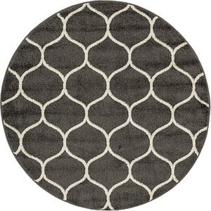 Link to 4' x 4' Trellis Frieze Round Rug item page