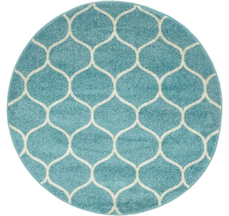 4' x 4' Lattice Frieze Round Rug