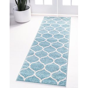 Link to 60cm x 265cm Trellis Frieze Runner Rug item page