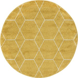 Link to 122cm x 122cm Trellis Frieze Round Rug item page