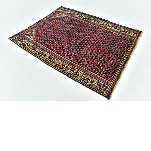 HandKnotted 4' x 5' Farahan Persian Square ...