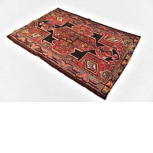 HandKnotted 4' x 5' 9 Hamedan Persian Rug