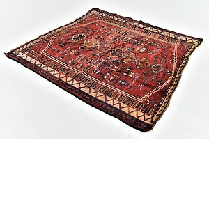 HandKnotted 4' 10 x 5' 5 Shiraz Persian Square Rug