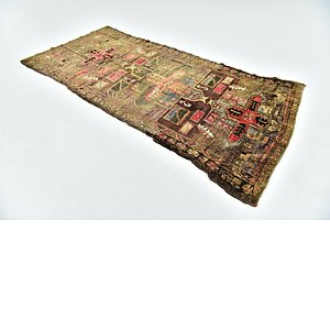 HandKnotted 4' x 9' 5 Shiraz Persian Runner Rug