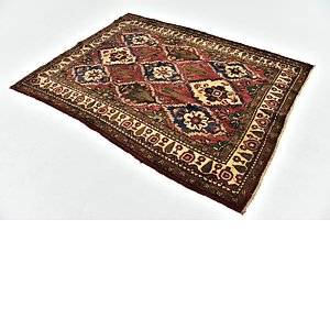 HandKnotted 5' x 6' 6 Bakhtiar Persian Square...